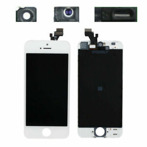 TOUCH SCREEN LCD DISPLAY RETINA PER APPLE IPHONE 5 VETRO SCHERMO BIANCO + FRAME