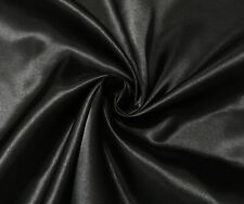 Black Luxury Silky Satin Dress Craft Fabric Wedding Material 150cm Wide