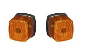 2 x Positionsleuchte Gelb Begrenzungsleuchte 12V PKW Anhänger Positionslicht LKW