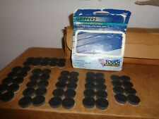 "50 Waxman Grippers Anti-Skid 3/4"" Black Plastic #7395 Soft Touch Surface Protect"