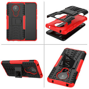 Shockproof Back Case Stand Hybird pc+soft tpu Cover For Nokia 7.2 2.1 1.3 5.4