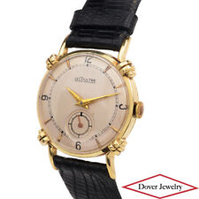 Jaeger-LeCoultre Vintage Thin 14K Yellow Gold Leather Men's Watch NR