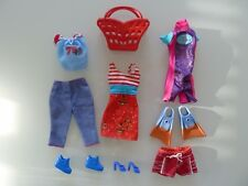 n13/ LOT DE VETEMENTS POUPEE BARBIE DOLL MY SCENE MATTEL PANTALON SAC VESTE  TBE