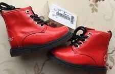 Armani Junior Baby Boots Girls Red Patent Size 4.5uk Infant 21eu New Original