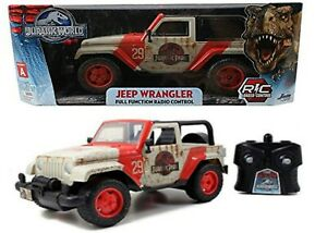 Jada Toys Jurassic World Jeep Remote Control Car 1:16 Scale Ages 6+ New Toy Race
