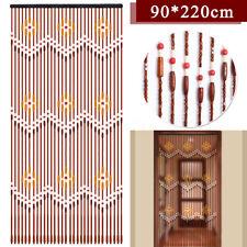 90x220cm Door Curtain Blinds Fly Screen Wooden Bead Room Divider Panel Sheet