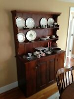American Antique Vintage Custom New England Country Pine Hutch USA