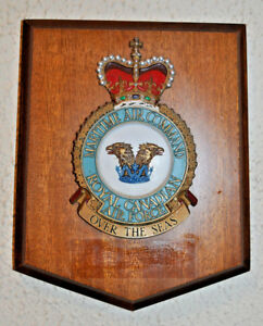 Maritime Air Command Royal Canadian Air Force mess wall plaque shield RCAF