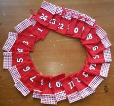 Adventkalender mit Filzbeutel / Säckchen zum selber befüllen