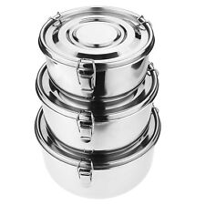 Stainless Steel Food Storage Containers 304 - Leak-Proof Airtight & Smell-Pro...
