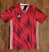 adidas Performance Tiro 19 Fußballtrikot Herren Rot Weiß Trikot Soccer DP3531