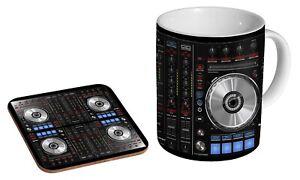 DJ Deck EDM House Techno Deck - Coffee / Tea Mug And Coaster Gift Set