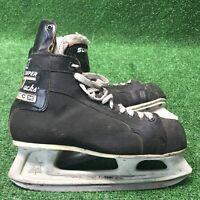 Vintage 1979 CCM Super Tacks Mens Ice Hockey Skates, Size 10.5 Rare