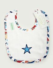 BABY BOY Bib with Sailor Motif - 4 Little Ducks Clothing FREE POSTAGE