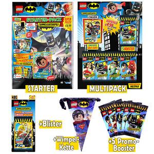 LEGO BATMAN Cards SET • Starter Multipack Blister + 5 Promobooster + Wimpelkette