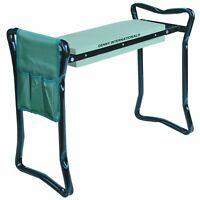 PORTABLE FOLDING GARDEN KNEELER KNEE PAD FOAM PADDED SEAT STOOL AND TOOL BAG