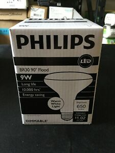 Philips LED 9w   Long Life Dimmable BR30 Flood Light Bulb (Set Of 6) 3a2