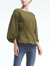 BANANA REPUBLIC WOMENS 876301 CINCHED WAIST BISHOP SLEEVE BLOUSE TOP XS S M L XL