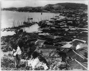 Scene along banks,buildings,Han River,Korea,junks,commerce carriers,countr 8155