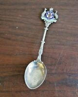 1908 Sterling Silver & Enamel Advance Australia Souvenir Spoon, W.J.D, Dingley