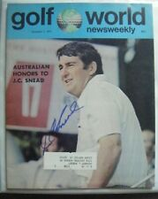 J.C. SNEAD signed 1973 GOLF WORLD magazine AUTO Autographed EAST TENNESSEE STATE
