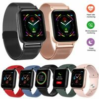 Touchscreen Smartwatch Pulsuhr Fitness Tracker Armbanduhr für iPhone Samsung LG