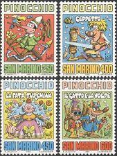 San Marino 1990 COLLODI/PINOCCHIO/auteurs/Livres/CARICATURES/animation 4 V Set n43537