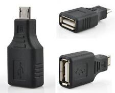 USB 2.0 Female to Micro USB B 5 Pin Male Plug OTG Adapter Converter Cable EY