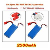 7.4V 2500mAh Lipo Battery For Syma Drone X8C X8W X8G X8SC X8SW X8HC X8HG X8HW