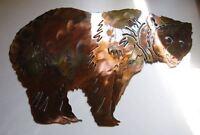 Arizona Standing Bear  Metal Wall Art Decor