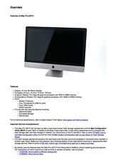 iMac 27-inch Pro 2017 Service Guide to Repairing/Reassembling