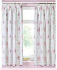 "Baby Girls Pink Elephant Blackout Curtains 66""x54""D Nursery Bedroom Curtains"