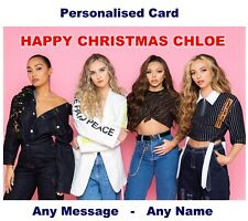 Personalised LITTLE MIX Christmas or Birthday or Concert ticket Card  Xmas gift