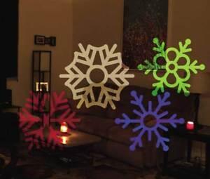 LED Projektor f. Außen 5 Motive Weihnachten Weihnachtsdeko Gartendeko Sensor