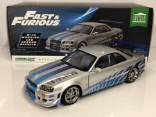 Fast & Furious Brians 1999 Nissan Skyline GT-R 1:18 LED Greenlight 19041