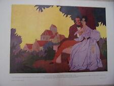 COMPOSITION ORIGINALE DE ROGER BRODERS 20è VERS 1925 BALZAC ET MADAME DE BERNY