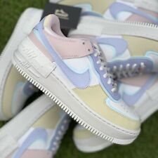 Nike Air Force 1 Shadow Pastel Ghost Glacier Blue Fossil Rose UK 4.5 | EU 38