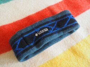 VTG Retro 90s COLUMBIA Aztec Headband Winter Wool Teal Green Black OSFA EUC