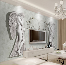 High-end 3D MURAL canvas Wallpaper ART Embossed angel Background wall W5411