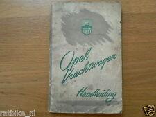 OPEL VRACHTWAGEN HANDLEIDING 1951,DUTCH