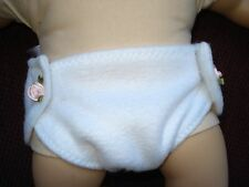 Cream colored  doll diaper for 15 inch Baby Doll clothes USA fleece fabric