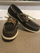 NEW $110 Mens Sperry Top-Sider 1 eye Authentic Canoe Shoes 9.5 brown