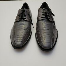 Stacy Adams Mens Shoes Gray Alligator Style Kaleb 24986-020 Size 13