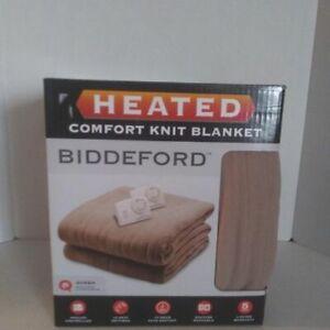 NEW Biddeford Heated Comfort Knit heating blanket (Queen)
