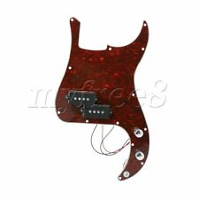 More details for prewired 3-ply guitar pickguard red tortoise shell parts for pb bass guitar