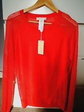 MICHAEL KORS Long Sleeve Tangerine Top, size 10 (38) RRP £150