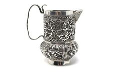 A Great Antique 19th Century Indian Solid Silver Jug Pitcher #ST