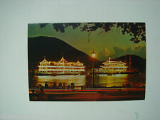 old China hk postcard,Aberdeen by night,unsued,no.251