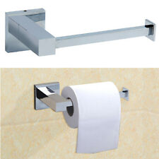 Bathroom Accessory - Modern Wall Mounted Square Toilet Roll Holder Chrome