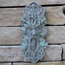 CELTIC GREEN MAN GREENMAN DECORATIVE STONE WALL PLAQUE